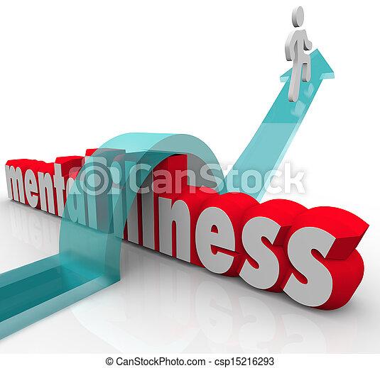 doença, mental, superar, doença, uma pessoa, desordem - csp15216293