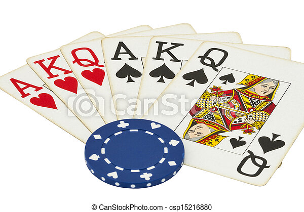 gambling items isolated on white - csp15216880