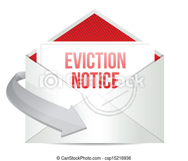 eviction notice mail or email illustration - csp15216936