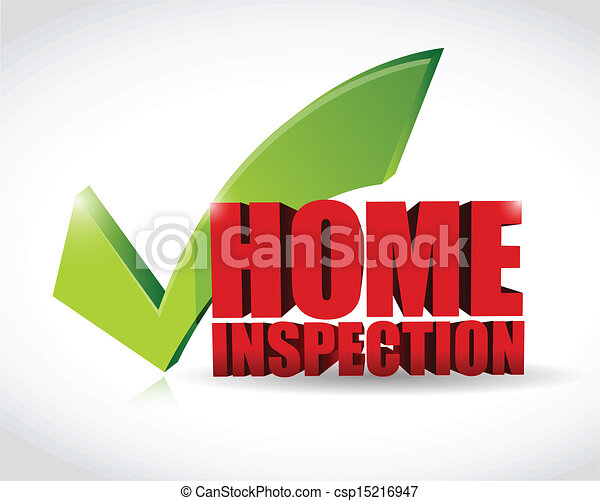 home inspection approval check mark illustration - csp15216947