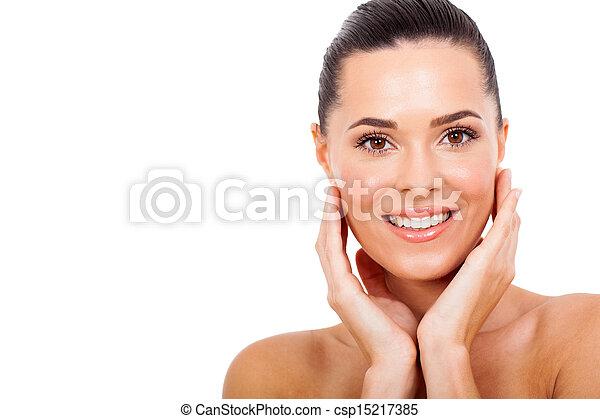 健康, 女, 若い, 皮膚 - csp15217385