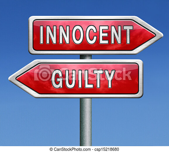 Fair Trial Clipart Pictures of innocent guilty - innocent or guilty ...