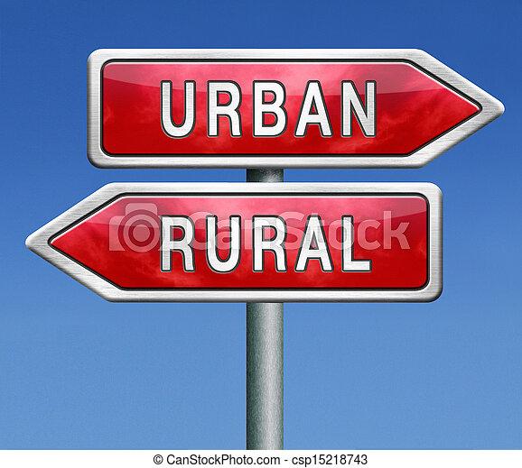 urban or rural - csp15218743