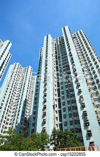 Residential building in Hong Kong - csp15222855