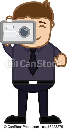 Vectors Illustration of Taking Shot with Digital Camera ...  Vectors Illustr...