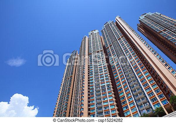 Hong Kong residential housing - csp15224282