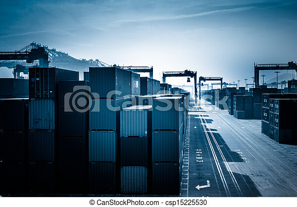 Container Yard and Crane