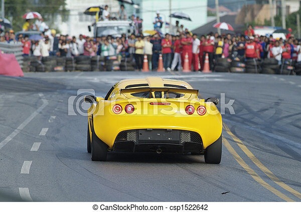 Racing car and spectators - csp1522642