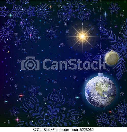Vektor weihnachten hintergrund schnee raum stock illustration