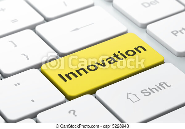 Finance concept: Innovation on computer keyboard background - csp15228943