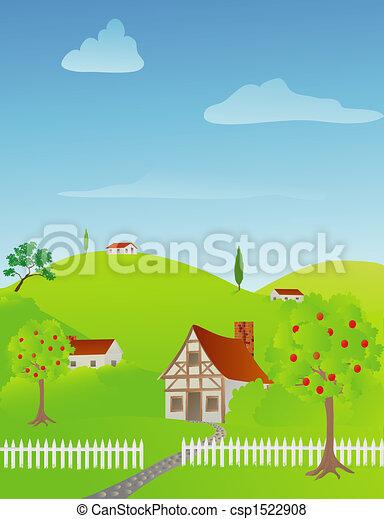 Rural Spring Scene - csp1522908