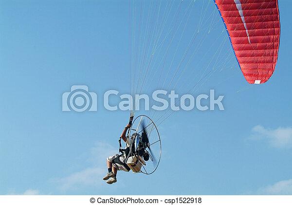 Paramotor, voando - csp1522918