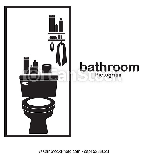 bathroom pictogram over white background vector illustration