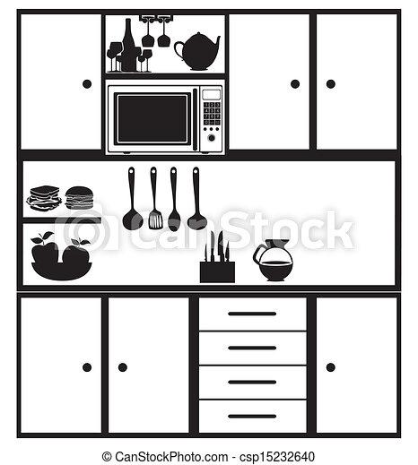 Vecteur eps de cuisine pictogramme sur blanc fond vecteur csp15232640 recherchez des - Pictogramme cuisine gratuit ...