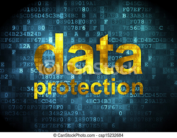 Safety concept: Data Protection on digital background - csp15232684