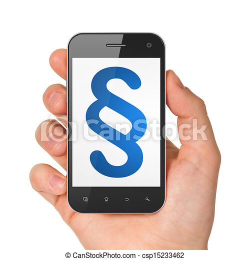 Law concept: Paragraph on smartphone - csp15233462