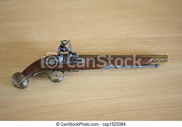 Antique pistol - csp1523384
