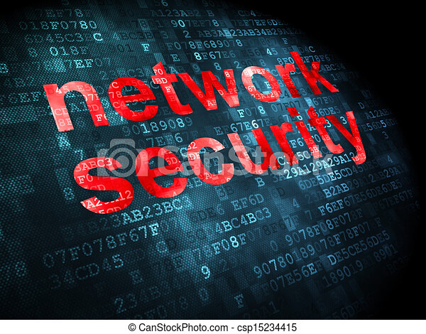 Privacy concept: Network Security on digital background - csp15234415