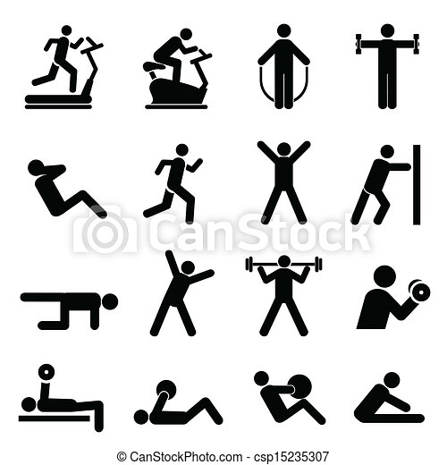 Vector Clipart ... Kids Exercising
