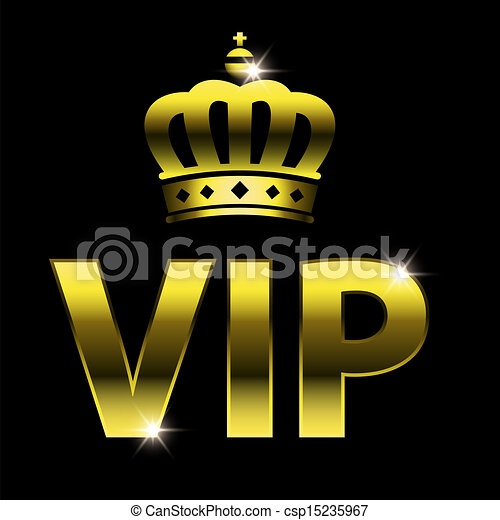 Clip Art Vecteur de VIP, conception, vip, Symbole, très, important ...