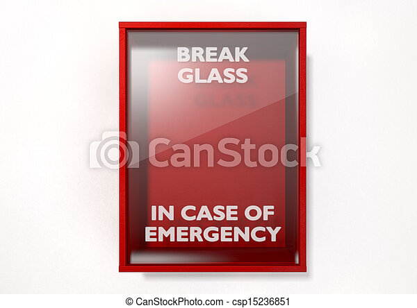 Break In Case Of Emergency Red Box - csp15236851