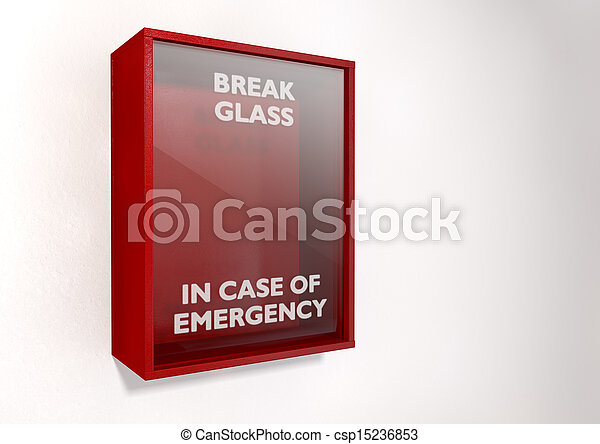 Break In Case Of Emergency Red Box - csp15236853