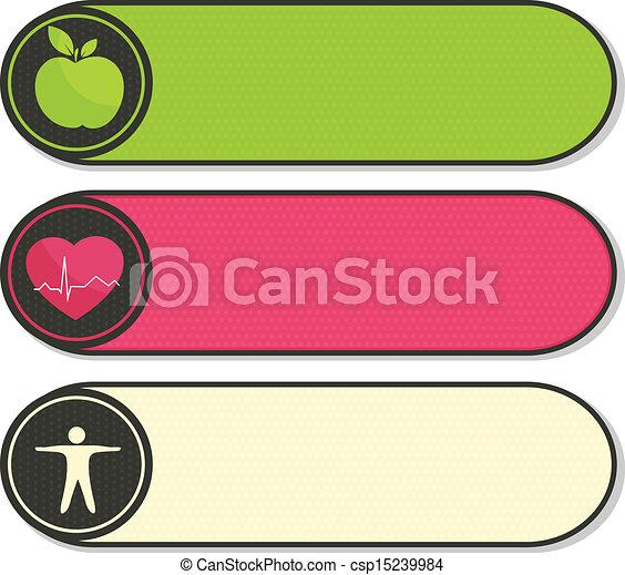 Health stickers - csp15239984