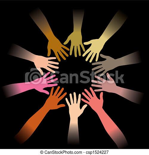 circle of hands - csp1524227