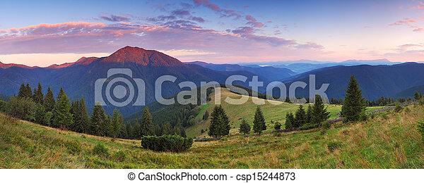 Beautiful mountain panorama - csp15244873