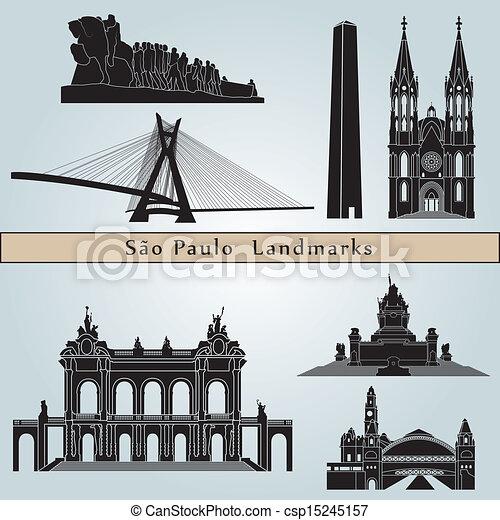 Sao Paulo landmarks and monuments - csp15245157