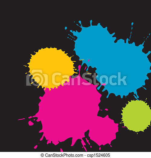 splatter grunge shapes  - csp1524605