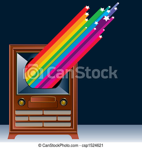 A vintage Television - csp1524621