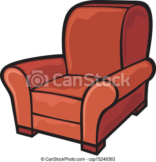 Clip Art Vector Of Armchair Leather Tub Chair