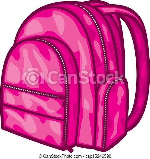 Vector - bag pack (backpack, school bag) - stock illustration, royalty ...