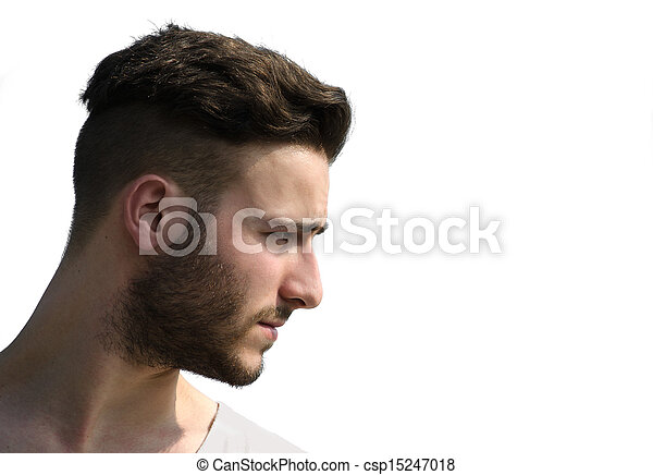stock photography of profile shot of young man 39 s face. Black Bedroom Furniture Sets. Home Design Ideas