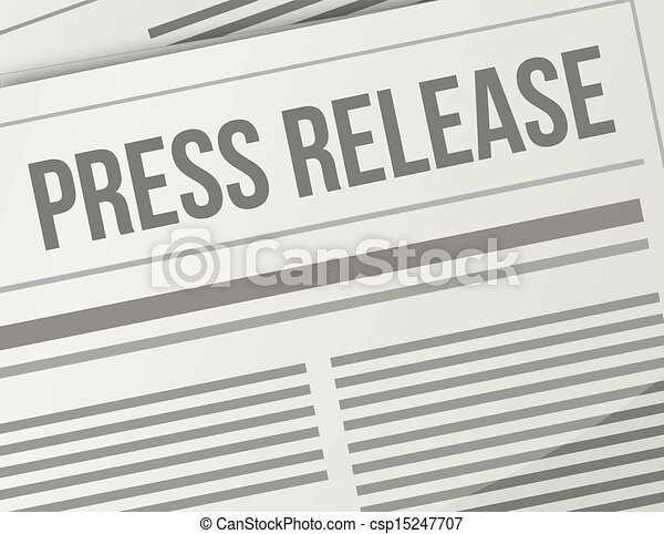 press release closeup illustration design graphic - csp15247707