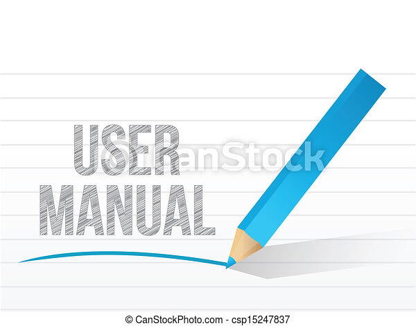 User manual written on a notepad royalty free vector for Vector canape user manual