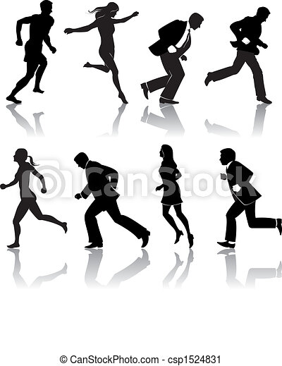 people running - csp1524831