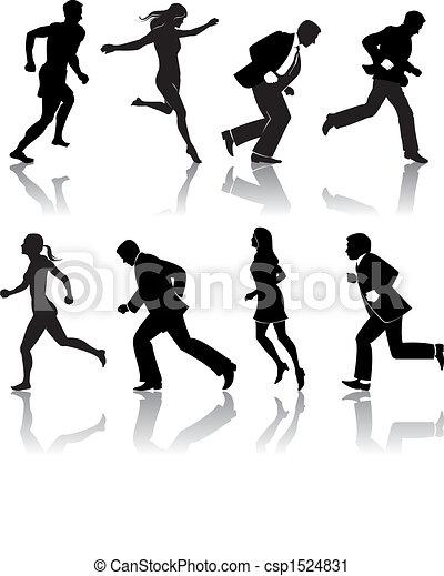 people running - csp1524831