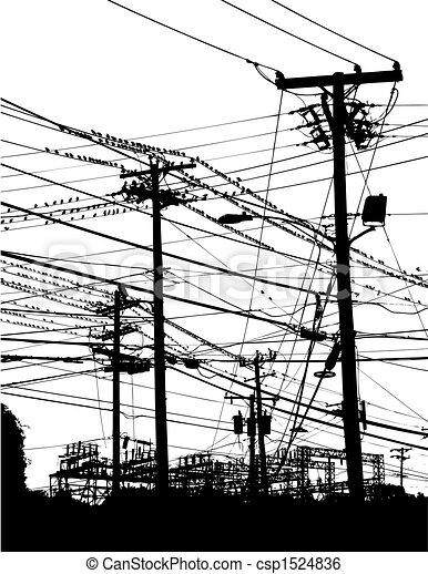telephone poles - csp1524836