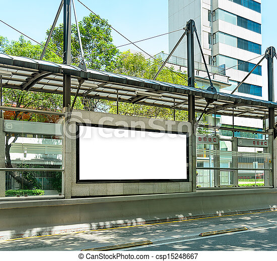 Blank Billboard - csp15248667