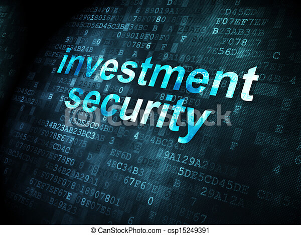 Security concept: Investment Security on digital background - csp15249391
