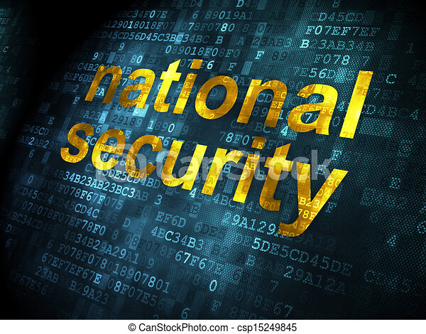 Safety concept: National Security on digital background - csp15249845