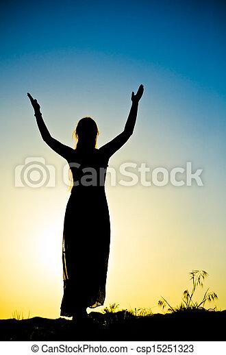 woman silhouette - csp15251323