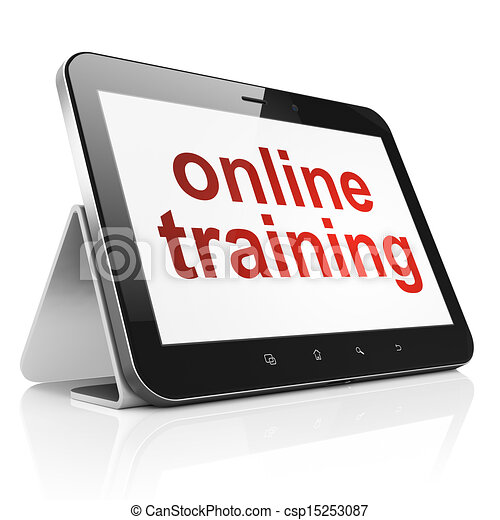 Education concept: Online Training on tablet pc computer - csp15253087