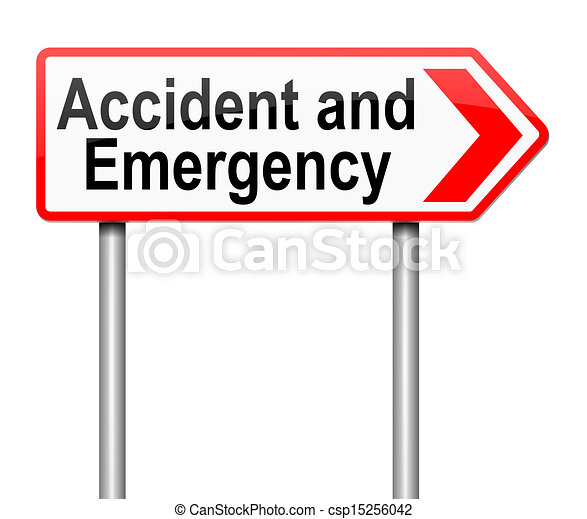 Accident and Emergency sign. - csp15256042