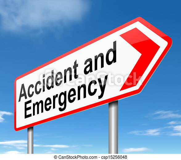 Accident and Emergency sign. - csp15256048