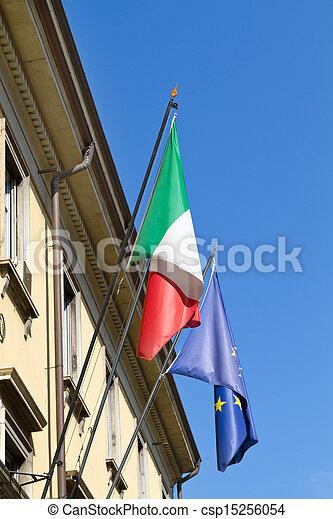 Government building (palazzo del governo) in an italian small town - csp15256054