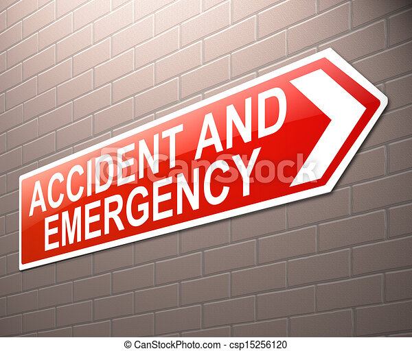 Accident and Emergency sign. - csp15256120