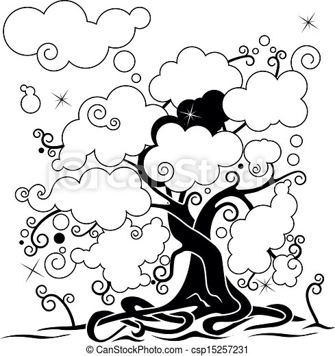 Cool Family Tree Drawings Vector Clouds Tree Network